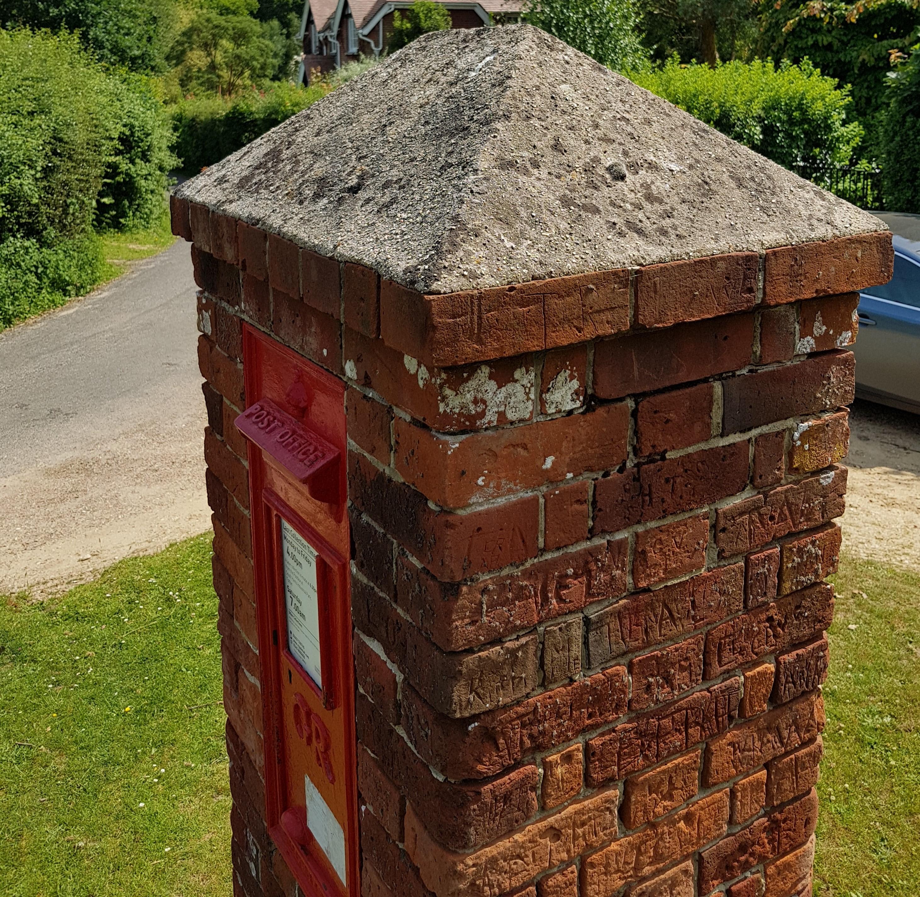 Post Box Graffiti At Bank